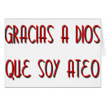 Soy Ateo Greeting Card
