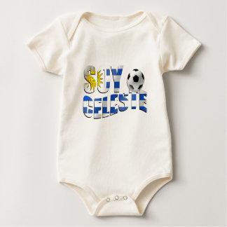Soy Celeste Uruguay flag Futbol soccer ball logo Baby Bodysuit