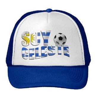 Soy Celeste Uruguay flag Futbol soccer ball logo Hat