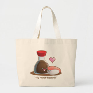 Soy Happy Large Tote Bag