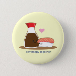 Soy Happy Together 6 Cm Round Badge
