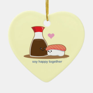 Soy Happy Together Ceramic Heart Decoration