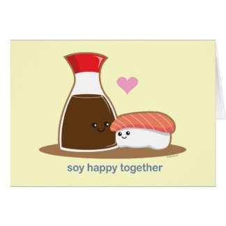 Soy Happy Together Greeting Card