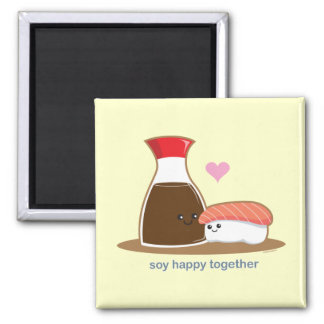Soy Happy Together Square Magnet