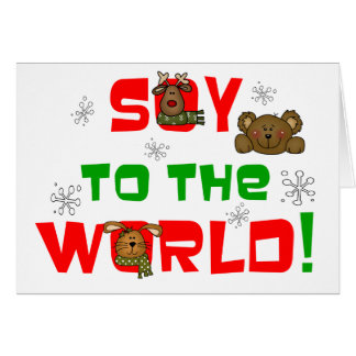 Soy to the World Greeting Card