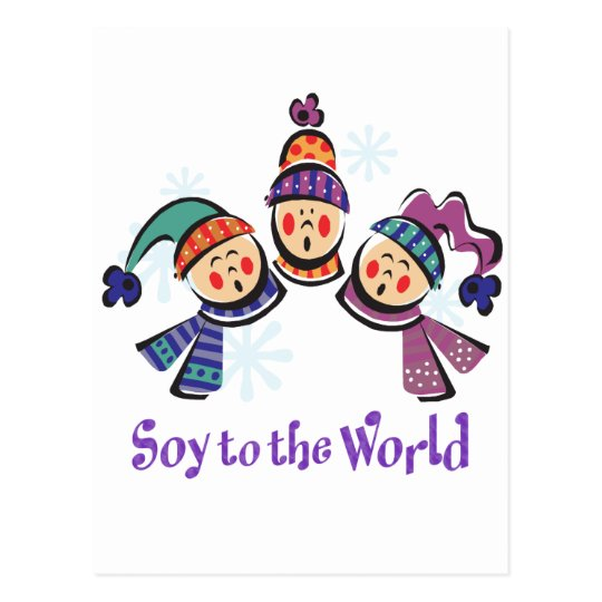 Soy to the World Holiday Postcard