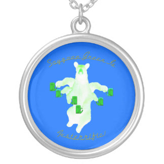 Soygoop Green Is Festerrific Round Pendant Necklace