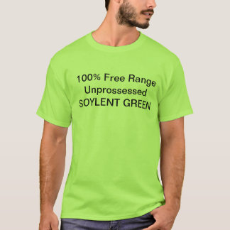 Soylent Green shirt w/ nutritional facts