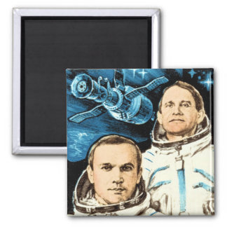 Soyuz 27 square magnet