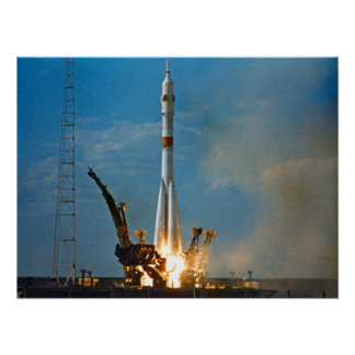 Soyuz Launch Apollo-Soyuz Test Project Print
