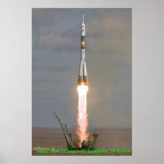 Soyuz TMA-13 Soyuz-FG Expedition 18 launch 0810... Poster