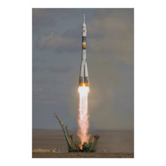 Soyuz TMA-13 Soyuz-FG Expedition 18 launch Poster