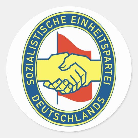 Sozialistische Einheitspartei Deutschlands Classic Round Sticker