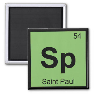 Sp - Saint Paul Minnesota Chemistry Periodic Table Magnet