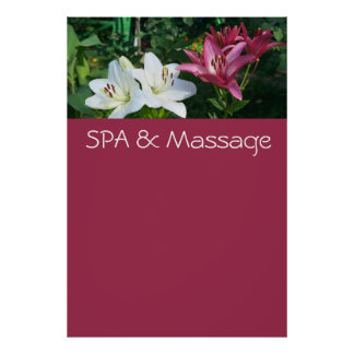 SPA and massage Poster