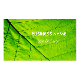 Spa and Salon Green Leaf Pack Of Standard Business Cards