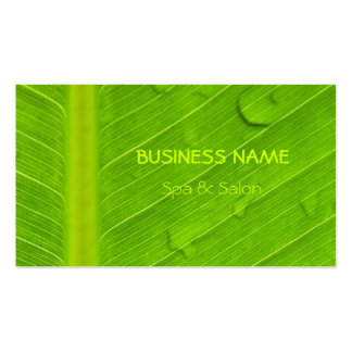 Spa and Salon Professional Green Leaf Pack Of Standard Business Cards