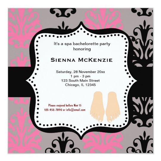 Spa Bachelorette Party Card