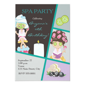 Spa Beauty Girls Salon Makeup Party Invitation