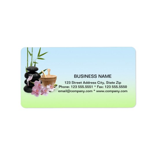 SPA & Beauty Resort Address Labels