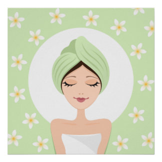 Spa/beauty salon relaxation poster print