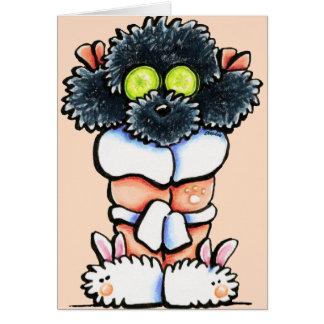 Spa Black Poodle Card