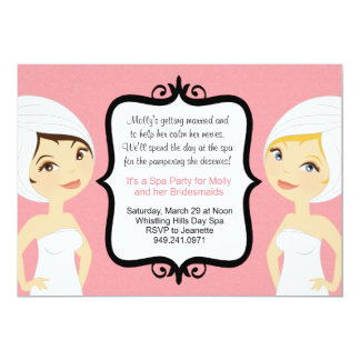 Spa Bridal Party Invitation