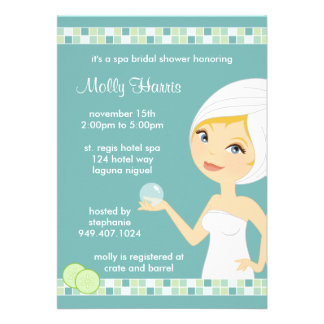 Spa Bridal Shower Party Invitation