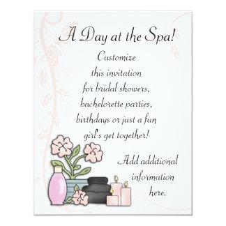 """Spa Day 4.25"""" X 5.5"""" Invitation Card"""