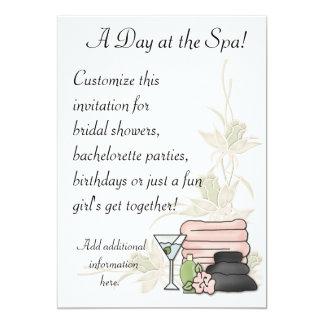 """Spa Day 5"""" X 7"""" Invitation Card"""