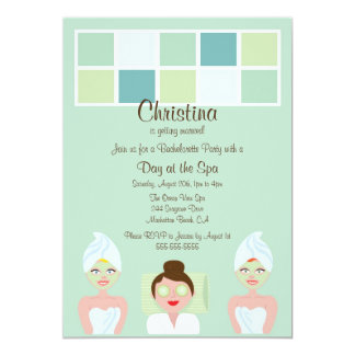 Spa Day Bachelorette Party Invitation