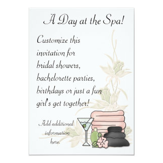 Spa Day Custom Invite