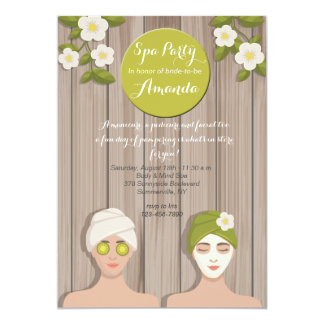 Spa Day Invitation