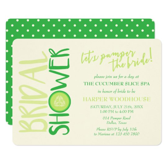 Spa Day | Let's Pamper the Bride | Bridal Shower Card