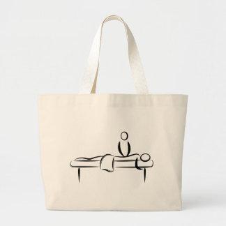 Spa Day Massage Jumbo Tote Bag