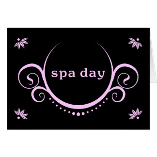 spa day party greeting card