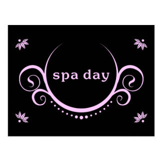 spa day party postcard