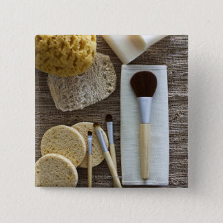 Spa detail of sponges and brushes 15 cm square badge