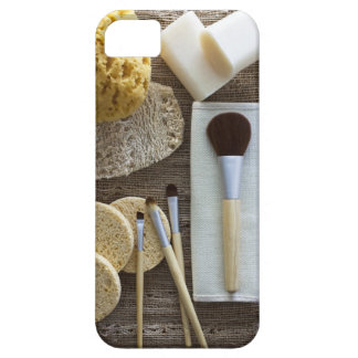 Spa detail of sponges and brushes case for the iPhone 5