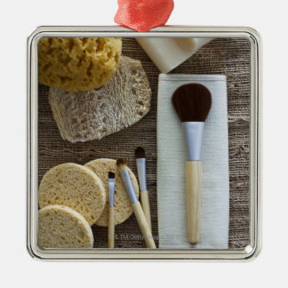 Spa detail of sponges and brushes christmas ornament