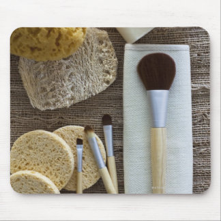 Spa detail of sponges and brushes mouse pad