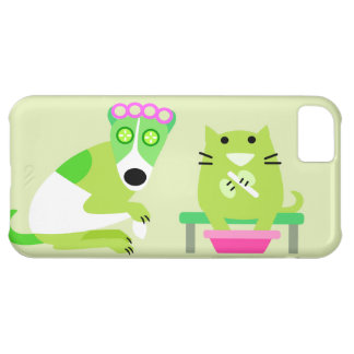 Spa Dog & Cat iPhone 5C Covers