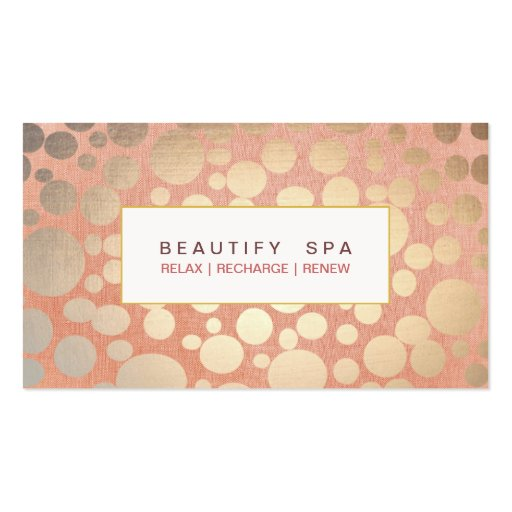 Collections of skincare business cards spa faux gold leaf and pink linen look business card templates colourmoves