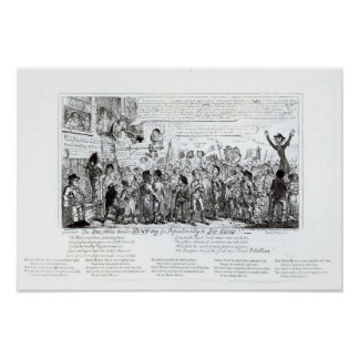 Spa Fields Orator Hunt-ing for Popularity Print