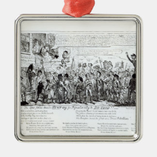 Spa Fields Orator Hunt-ing for Popularity Silver-Colored Square Decoration