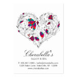 Spa Gift Card Salon Valentine's Floral Heart Pack Of Chubby Business Cards