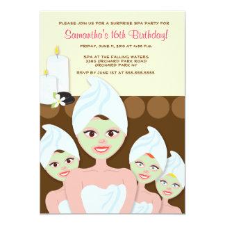 SPA Girls PARTY Birthday or Bridal Shower 5x7 13 Cm X 18 Cm Invitation Card