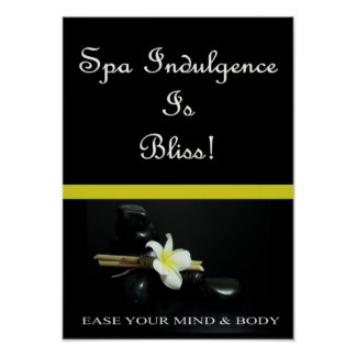 Spa Indulgence Is Bliss Poster
