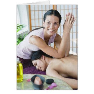 Spa massage 2 card