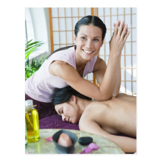 Spa massage 2 postcard